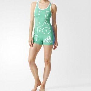 Adidas Stellasport Green Workout Onsie Small